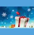 winter shopping background vector image vector image