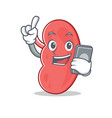 with phone kidney character cartoon style vector image vector image