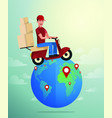 world wide delivery of vector image vector image