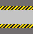 yellow and black grunge hazard sign vector image