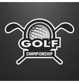 Golf sports logo label emblem vector image