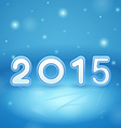2015 on Ice and snow vector image vector image