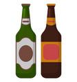 alcohol beverage in bottle celebration vector image vector image