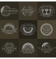 Auto badges with place for text vector image