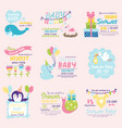 baby shower invitation decoration celebration vector image vector image