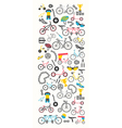 Bicycle banner graphic design Bike types f vector image vector image