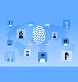 biometric fingerprint security data protection vector image vector image