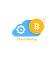 bitcoin cloud mining like cryptocurrency profit vector image