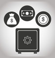 box safe money bank currency coin banking vector image vector image