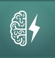 brain and lightning big idea icon isolated on vector image