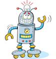 Cartoon thinking robot vector image vector image