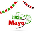 cinco de mayo with cocktail vector image