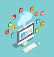 cloud service model isometric composition vector image vector image
