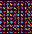 cute hallowen pattern background vector image vector image