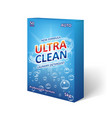 detergent powder packaging design laundry vector image