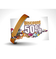 Discount card vector image vector image