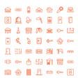door icons vector image vector image