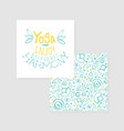 enjoy yoga ayurvedic harmony studio card flyer vector image vector image