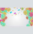 festive design border of colorful bright confetti vector image vector image