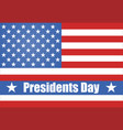 flag of america president39s day stylish vector image vector image