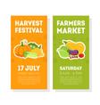 fruit festival banner templates ser farmers vector image vector image