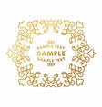 golden luxurious logo frame on white vector image