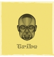 graphic evgraved a black african tribe man face vector image