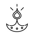 happy diwali traditional indian festival vector image vector image