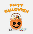 happy halloween background with text for vector image vector image