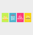 happy new year greeting card set vector image