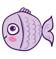 image cute fish or color vector image vector image