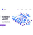 investment analysis landing page template vector image vector image