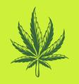 kush leaf simple logo vector image vector image
