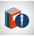 library books school woman teacher vector image