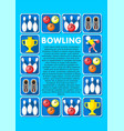 light bowling elements collection vector image vector image