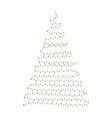 light bulb garland tree christmas design isolated vector image