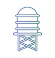 line water tank container reserve vector image vector image