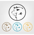 Lion icons vector image vector image