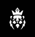 lion mascot logo black and white version vector image