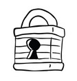 lock black vector image