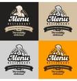 menu restaurant cafe logo eatery diner vector image