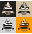 menu restaurant cafe logo eatery diner vector image vector image