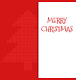 merry christmas postcard with square mosaic xmas vector image vector image