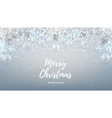 Merry Christmas web banner with glass toys vector image vector image