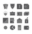 money payments finance icons isolated on vector image