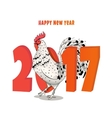 new year a rooster 2017 vector image vector image
