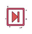 next play icon design vector image vector image