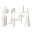 NYC Map 04 Building Isometric vector image vector image