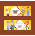 occupation people man woman character of vector image