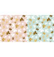 pale color and gold butterfly seamless pattern vector image